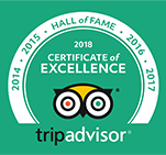 TripAdvisor Certificate of Excellence 2018 Gentle Giants